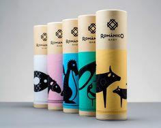 L'agence Volta a réalisé l'identité visuelle de la marque de broderies de luxe Românico Bordados. Le logo s'inspire des motifs des broderies, eux-mêmes basés sur ceux des monuments de la Route de l'Art Roman au Portugal, et est associé à la typographie Estilo Pro, de Dino dos Santos. Sur les boites de la gamme de produits pour enfant, Românico Baby, figurent des animaux illustrés par Helena Soares, de différentes couleurs et formes géométriques.