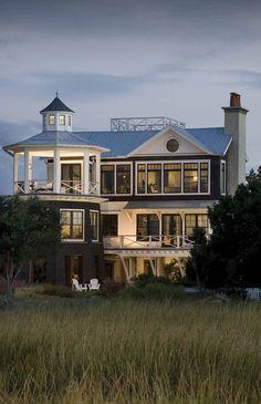 Marshfront Retreat - Custom Designed Home :: Herlong & Associates :: Coastal Architects, Charleston, South Carolina