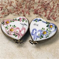 Limoges You and Me Hearts Box The Cottage Shop