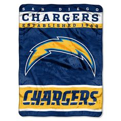 San Diego Chargers NFL Royal Plush Raschel (12th Man Series) (60in x 80in)