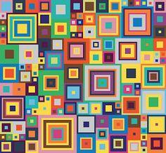esquema cromático  esquema de 10 bloques Se puede hacer con grannys ...