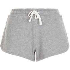 New Look Grey Runner Shorts ($8.69) ❤ liked on Polyvore featuring shorts, bottoms, shorts/skirts, grey, mini shorts, grey shorts, gray shorts and summer shorts