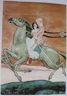 Illustration by Rudolf Koivu Finland Art And Illustration, Book Illustrations, Russian Mythology, Art Magique, Vintage Book Art, Grimm, Illustrators, Fairy Tales, Cool Art