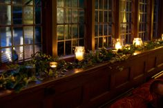 Romantic candlelit in our Great Drawing Room | Ramster Hall Winter Wedding Venue in Surrey