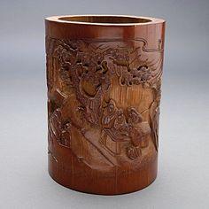 A Bamboo Brush Pot #asianart #michaans http://www.michaans.com/highlights/2013/highlights_01062013.php