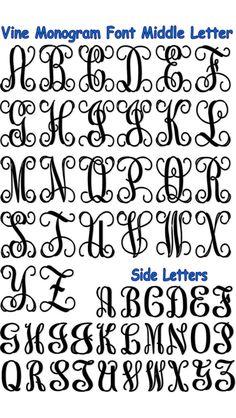 Monogram Letters by Mudgey Vine Monogram Font, Cricut Monogram, Cricut Fonts, Free Monogram, Cricut Vinyl, Monogram Maker, Silhouette Fonts, Silhouette Machine, Bucket Lists