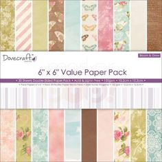 Dovecraft Paper Pack - Bloom & Grow 6 x 6