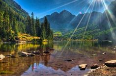The Maroon Bells in White River National Park Aspen, Colorado