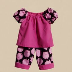 Pigs in Pink 2 pc pants outfit infant size 12 by ArtsyCrafty, $22.50