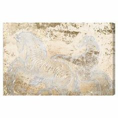 Canvas print with an equine motif. Made in the USA.   Product: Wall artConstruction Material: Gallery-wrapped canvas and woodFeatures: Ready to hang Cleaning and Care: Dust lightly