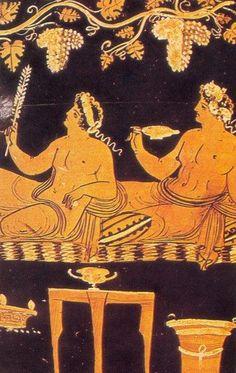arte greca cratere - il simposio