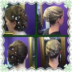 Wedding hair at the salon......