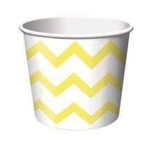 Yellow Chevron Stripe Treat Cups (6 ct)