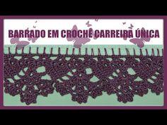BARRADO EM CROCHÊ CARREIRA ÚNICA - YouTube