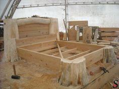 Other Log and Timber Projects by Sitka Log Homes | Log and timber bed frame