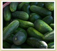 Cucumbers, so good for you. Breast Cancer preventers!