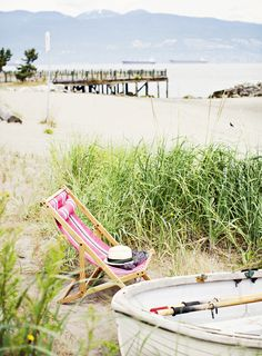 old school beach chairs....and BEACH!!!
