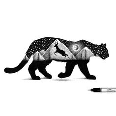 Best Of 75 Mountain tattoos - Enhance Your Style - Brave And Proud Small Mountain Tattoo, Mountain Tattoos, Art Sketches, Art Drawings, Stippling Art, Lion Drawing, Landscape Tattoo, Mountain Lion, Lion Tattoo