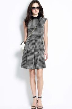 Knit Jacquard Pleat Dress