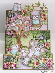 Heartfelt Creations | Flip Fold Owl Hangout