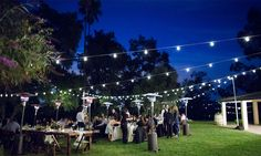 Outdoor Special Event Wedding String Lighting by Pacific Event Lighting