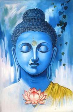 Buddha Painting, Peace of mine, Soul, Meditation Art Buddha, Buddha Kunst, Buddha Drawing, Buddha Canvas, Buddha Peace, Mandala Art, Budha Painting, Painting Canvas, Buddha Wall Painting
