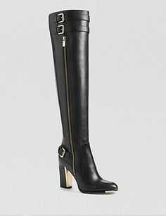 another chance 7ad71 bc913 Michael Kors Jayla High Heel Over The Knee Boots