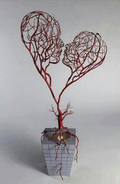 Love Tree Sculpture #sculpture #love