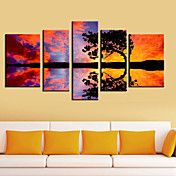 Stretched Canvas Art Landscape Tree and it's ... – USD $ 109.99