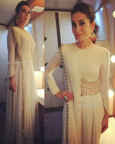 Rate her look 👉 🔟. Karishma Kapoor for comedy Bachao episode Outfit 👗 ~ Jewellery 💍 ~ Styled by Eshaa Amiin . Pakistani Dresses, Indian Dresses, Indian Outfits, Pakistani Clothing, Indian Attire, Indian Wear, Ethnic Fashion, Indian Fashion, Look Short