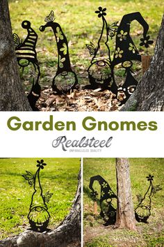 Gnome 4, Gnome Garden, Front Yard Patio, Japanese Garden Design, Lawn Sign, Outdoor Signs, Outdoor Decor, Backyard Garden Design, Garden Signs