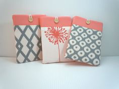 """mini iPad cover iPad case mini iPad sleeve Kindle 7"""" or 8"""" small tablet cover case sleeve Samsung Tab choose from Cool Coral Collection"""