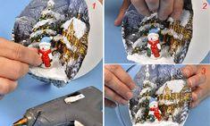Come realizzare palline decorate di Natale - Bricoportale: Fai da te e bricolage Decoupage, Bricolage