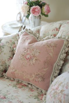 Romantic pink and white.