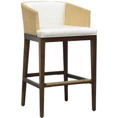 Palecek Sawyer Barstool ($1,635) ❤ liked on Polyvore featuring home, furniture, stools, barstools, palecek furniture, palecek bar stools, palecek, woven stool and woven bar stools