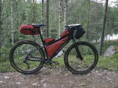 Kona Wo fatbike with Maxxis Chronicle 29+ wheels in summer touring mode.