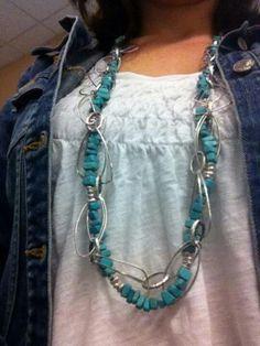 Dakota and Silver Splash necklaces intertwined.