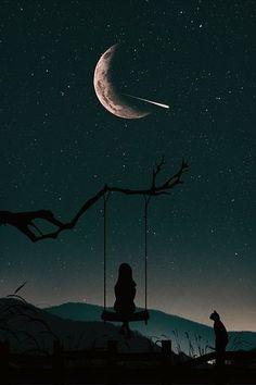 Silhouette, Nature, Ciel, Personnes