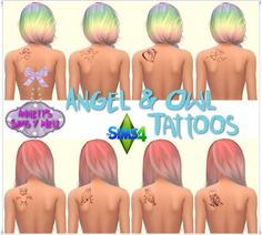 Annett`s Sims 4 Welt: Angel & Owl Tattoos • Sims 4 Downloads Check more at http://sims4downloads.net/annetts-sims-4-welt-angel-owl-tattoos-2/
