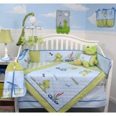 SoHo Froggies Pond Baby Infant Crib Bedding