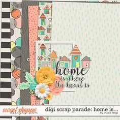 Free Home Is... Mini Kit {DigiScrap Parade May 2017} from Studio Flergs