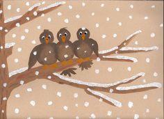 Drei Spatzen - handicrafts with children - - - Three sparrows - handicrafts with children - Winter Art Projects, Projects For Kids, Crafts For Kids, Arts And Crafts, Paper Plate Animals, Autumn Painting, Animal Crafts, Disney Drawings, Art Plastique