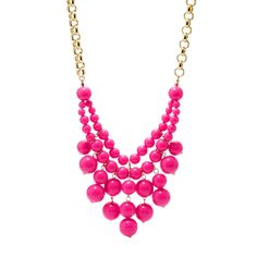 #Fossil #necklace #pink #gold #statement #blogger #color