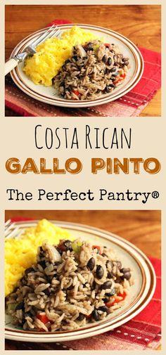Costa Rican gallo pinto (black beans and rice) #vegan #glutenfree http://ThePerfectPantry.com