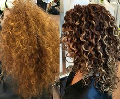 Rachael Urrico working her #colortransformation #Pintura magic at Devachan Broome St, NYC Rachael modified her base color to a rich auburn, then painted highlights slightly off-the root & a few lowlights to show off her curl pattern with an extra kick of brightness to her ends. [Follow @rachael_Devacurl on IG]