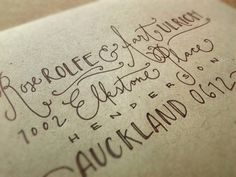 Custom Hand Lettered Envelope Addressing by Custom Crafted #envelope #addressing