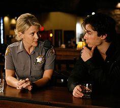 A few good men:Sheriff Forbes talking to Damon
