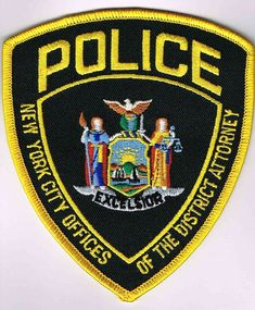 New York City District Attorney PD Football Cheerleaders, Cheerleading, Fire Badge, New York Police, Police Box, Police Patches, City State, Blue Line, Law Enforcement