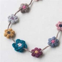Oeuf アクセサリー  ALPACA FLOWER NECKLACE
