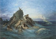 Pleione as Oceanid nymph ~ Gustave Dore', French artist